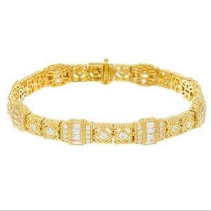 NWT 14K Gold Clad Diamonique-style Estate Bracelet